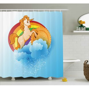 Sheldon Cartoon Kids Rainbow Shower Curtain