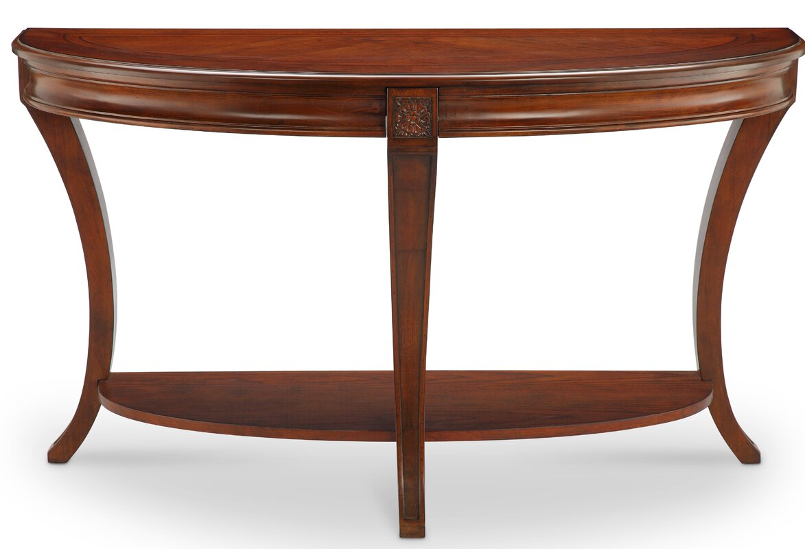 Darby home co stephenson demilune console table reviews wayfair stephenson demilune console table geotapseo Gallery