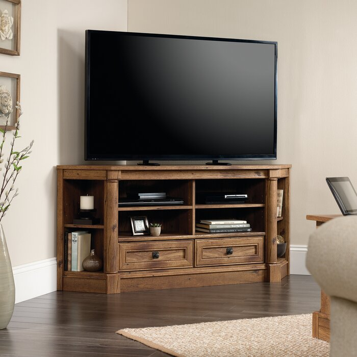 Three Posts Orviston Corner Tv Stand For Tvs Up To 60 Reviews