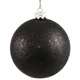 glitter ball christmas ornament set of 12 - Black And Gold Christmas Ornaments