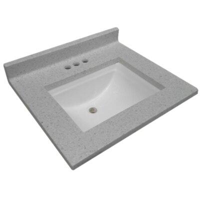 Cultured Wave Bowl 31 Single Bathroom Vanity Top
