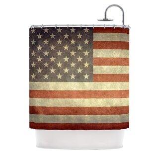 Flag Of US Retro Shower Curtain