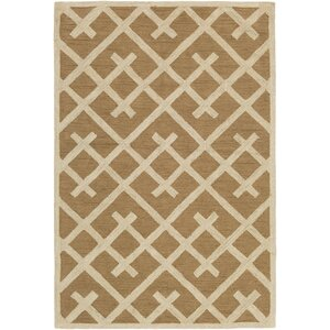 Congo Adrienne Hand-Tufted Taupe/Beige Area Rug