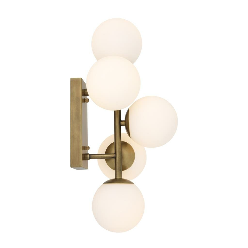 Eichholtz libris glass multi globe 5 light armed sconce wayfair