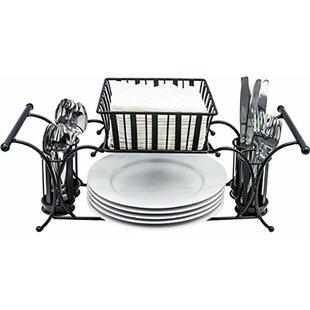 Plate And Silverware Caddy | Wayfair