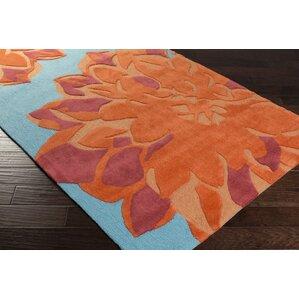 butner handtufted blueorange area rug