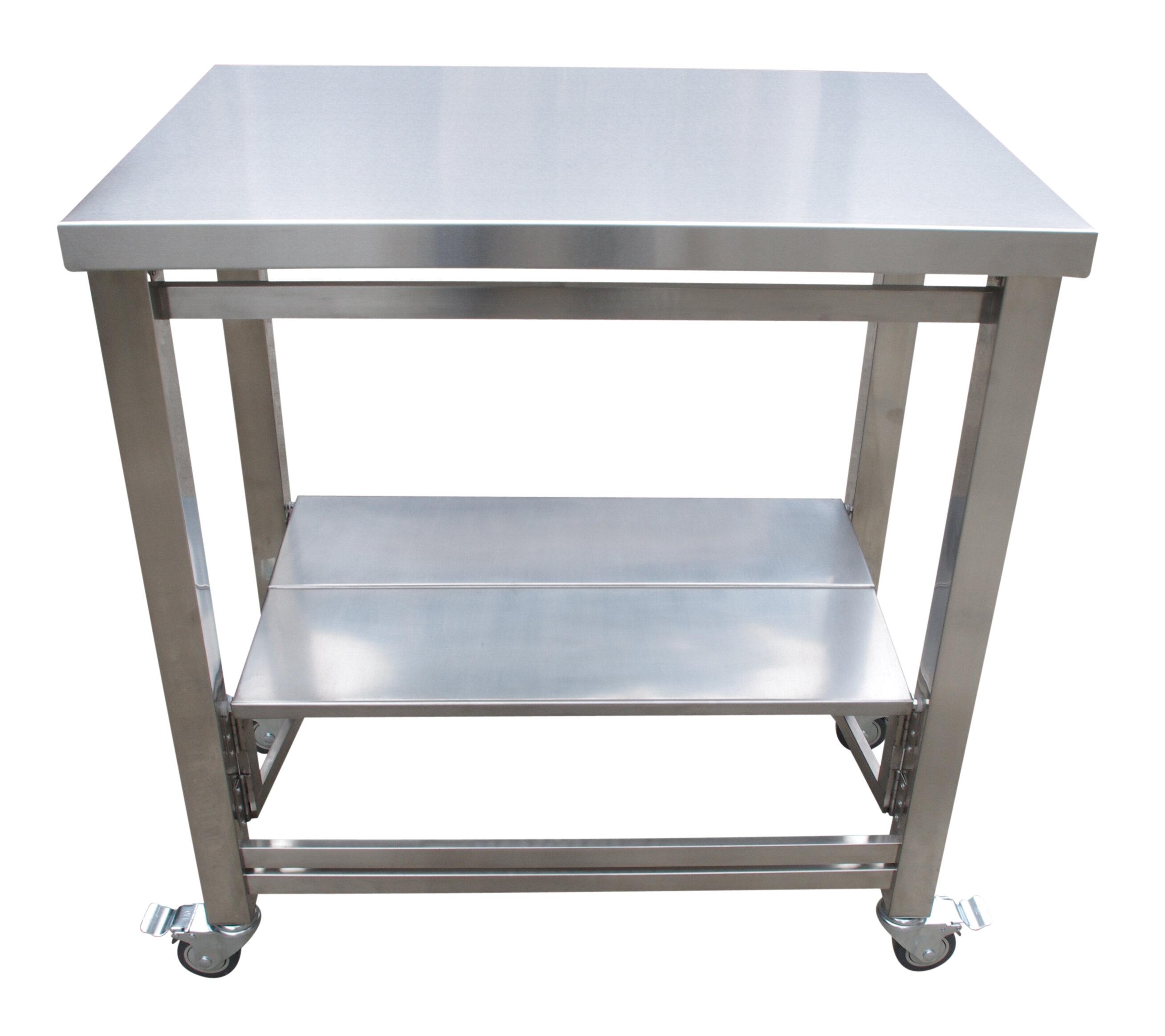Symple Stuff The Flip and Fold Work Station Kitchen Cart | Wayfair