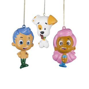 3 Piece Bubble Guppies Blow Mold Hanging Figurine Set