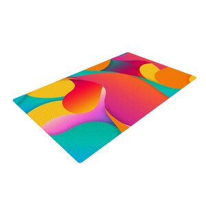 Danny Ivan Still Life Warm Abstract Pink/Yellow Area Rug