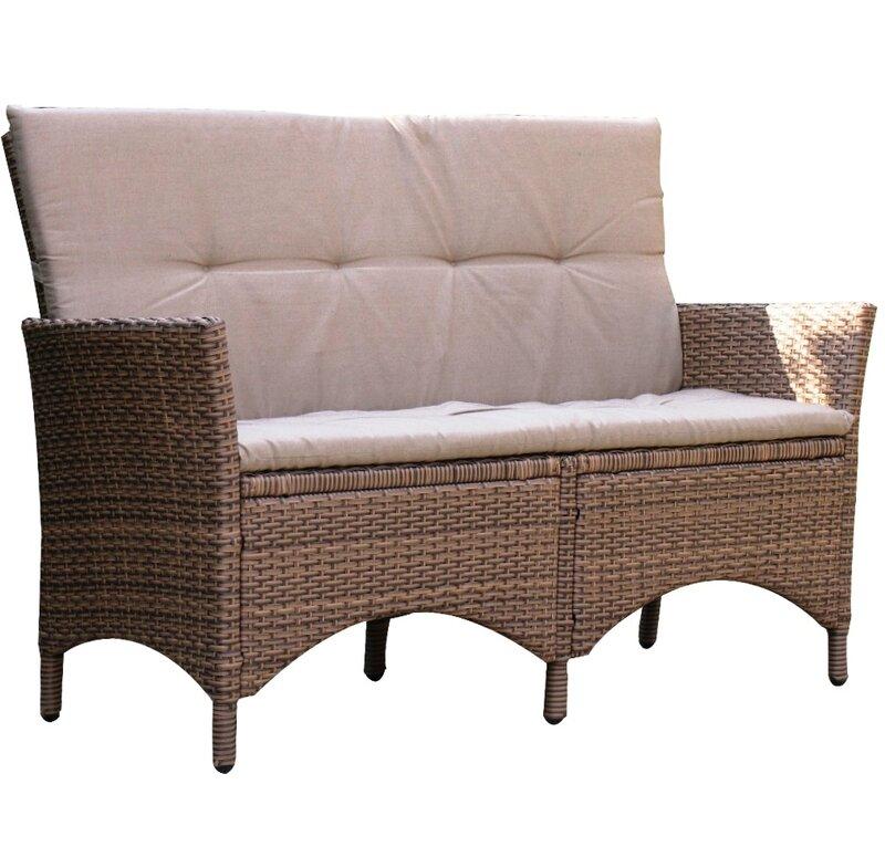 grasekamp 3 sitzer gartenbank lanzarote aus polyrattan. Black Bedroom Furniture Sets. Home Design Ideas