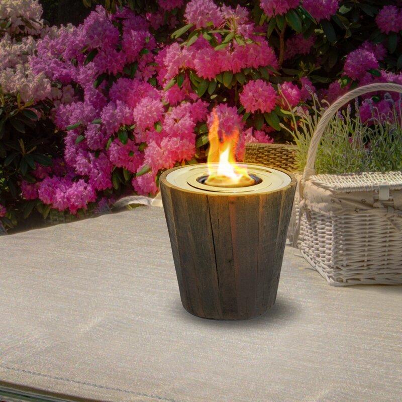 Montauk Reclaimed Wood Gel Tabletop Fireplace