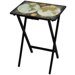 Old world map table wayfair vintage world map tv tray gumiabroncs Image collections
