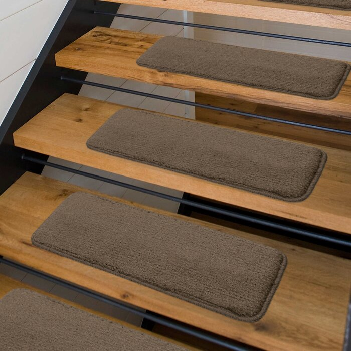 Beaudin 14 Pack Luxury Brown Stair Treads