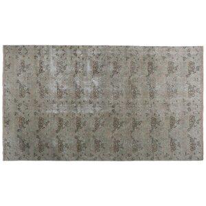 Katya Vintage Hand-Knotted Wool Gray Area Rug