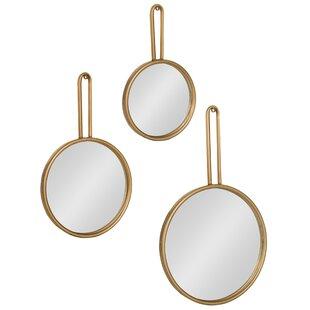 Varela 3 Piece Decorative Round Mirror Set