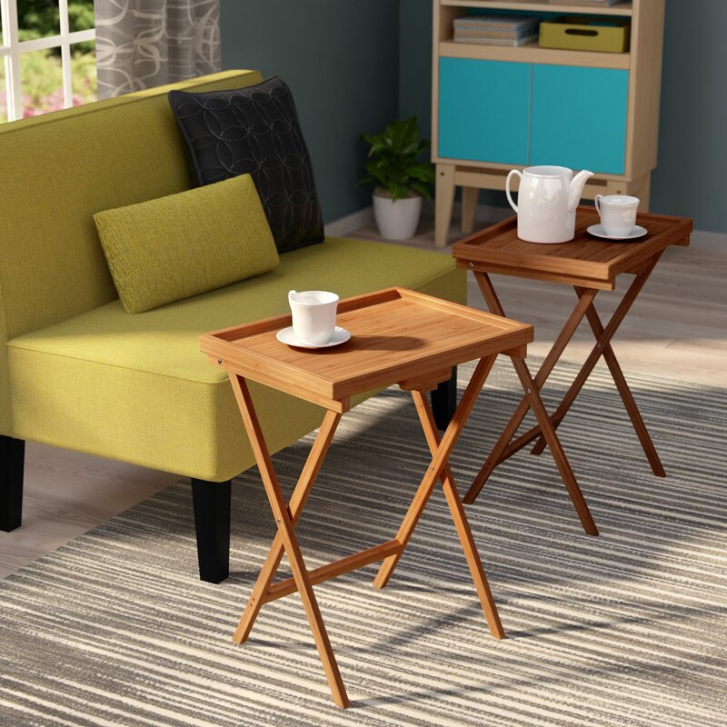 Hussey Bamboo Snack TV Tray Table