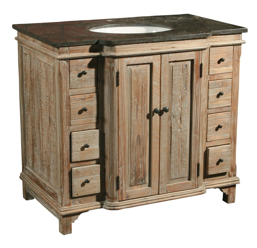 "furniture classics ltd 36"" single reclaimed pine bathroom vanity"
