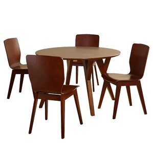 Maude 5 Piece Wood Dining Set by Langley Street