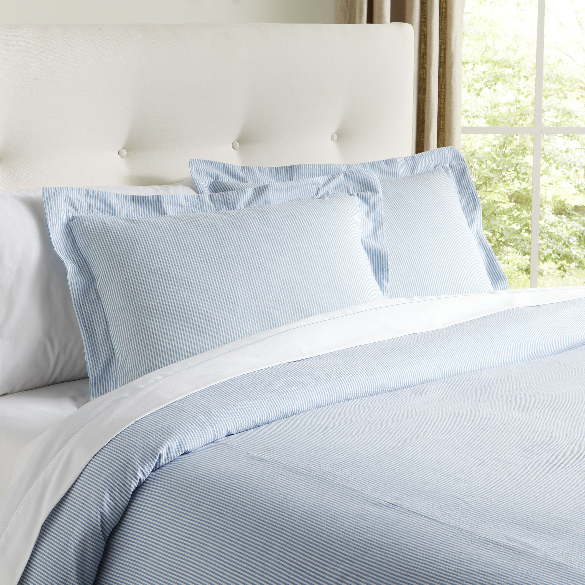 duvet duvets iris cover bedding blue seersucker stripe sky white and products set stripes
