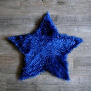 Star Blue Area Rug