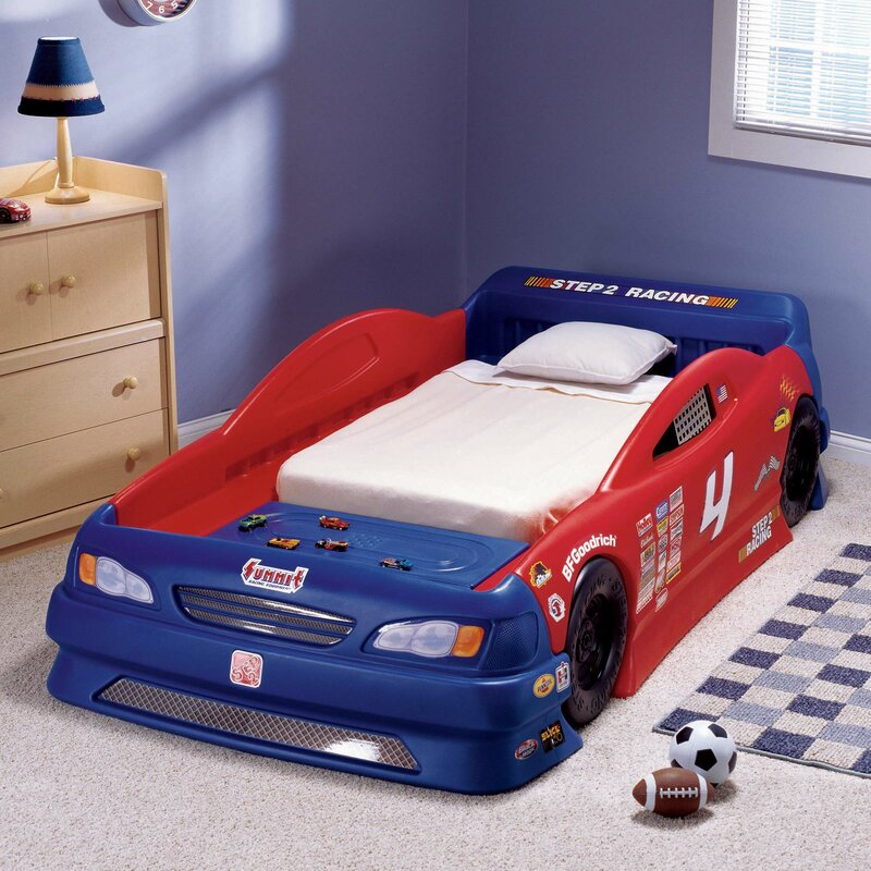 Children S Furniture Stock Twin Car Bed Reviews Wayfair