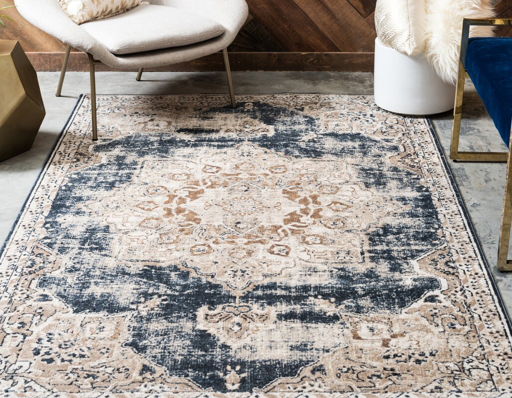 Laurel Foundry Modern Farmhouse Abbeville Blue Area Rug