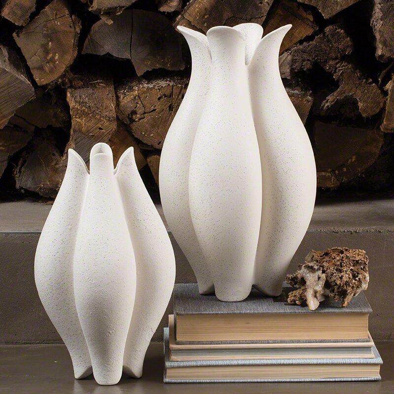 Floral Ceramic Table Vase Amp Reviews Birch Lane