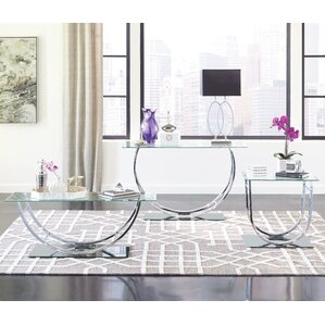 glass living room table set. Kegan 3 Piece Coffee Table Set Glass Sets You ll Love  Wayfair