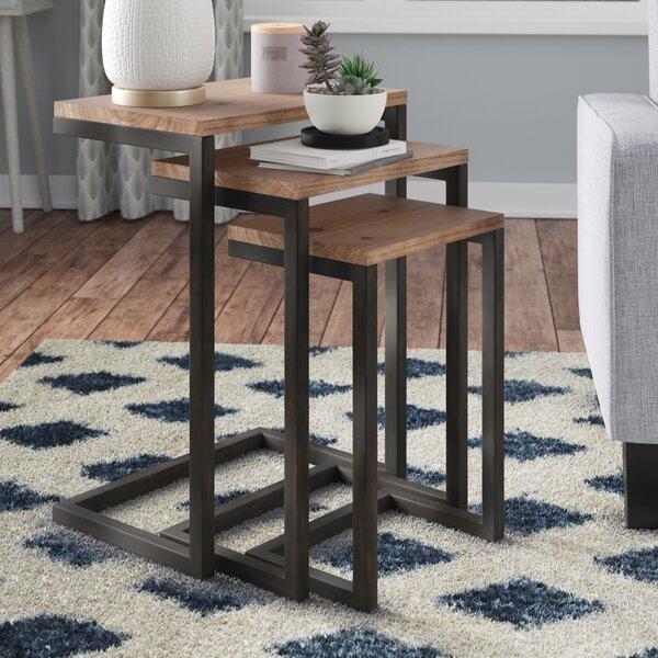 Mercury Row Cetus 3 Piece Nesting Tables & Reviews