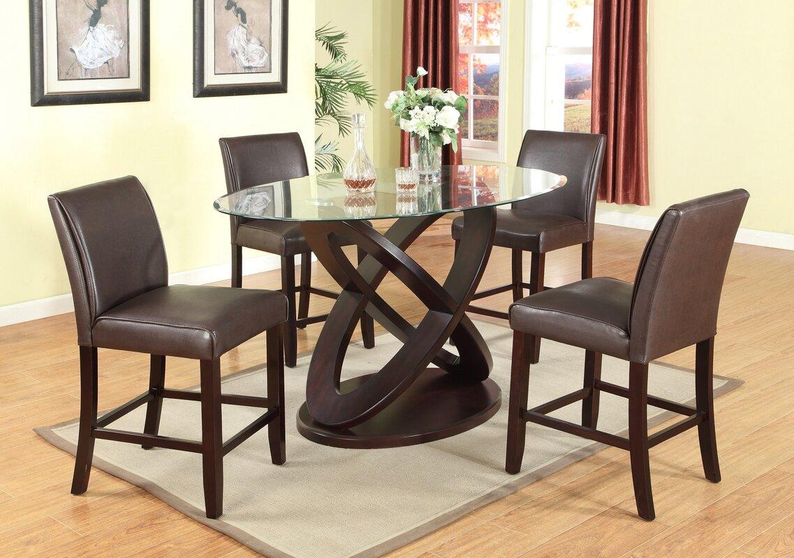 Wayfair Patio Table Round Patio Furniture Wayfair Patio: Roundhill Furniture Cicicol 5 Piece Counter Height Dining