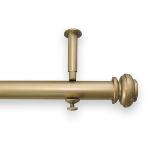 christian adjustable single curtain rod and hardware set