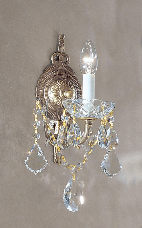 Madrid Imperial 1-Light Candle Wall Light