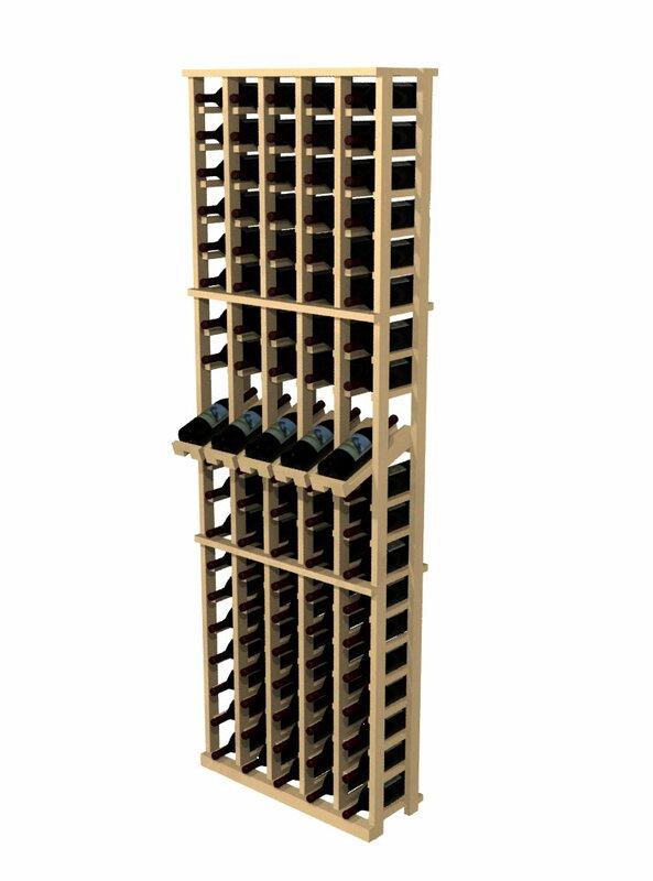 Wall Mounted Wine Racks Part - 24: Rustic Pine 100 Bottle Wall Mounted Wine Rack
