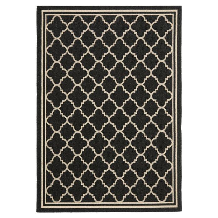Urban facettes teppich siding spring in schwarz beige