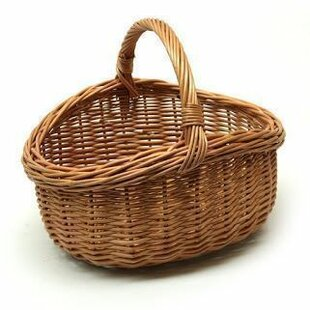 Oval Ping Wicker Basket With Handle
