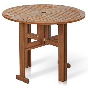 folding outdoor dining set dining room arianna folding wood dining table patio tables youll love wayfair
