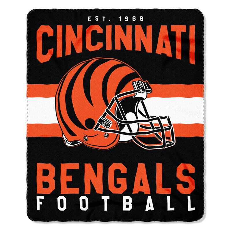 a73f5ca8 NFL Cincinnati Bengals Printed Fleece Throw