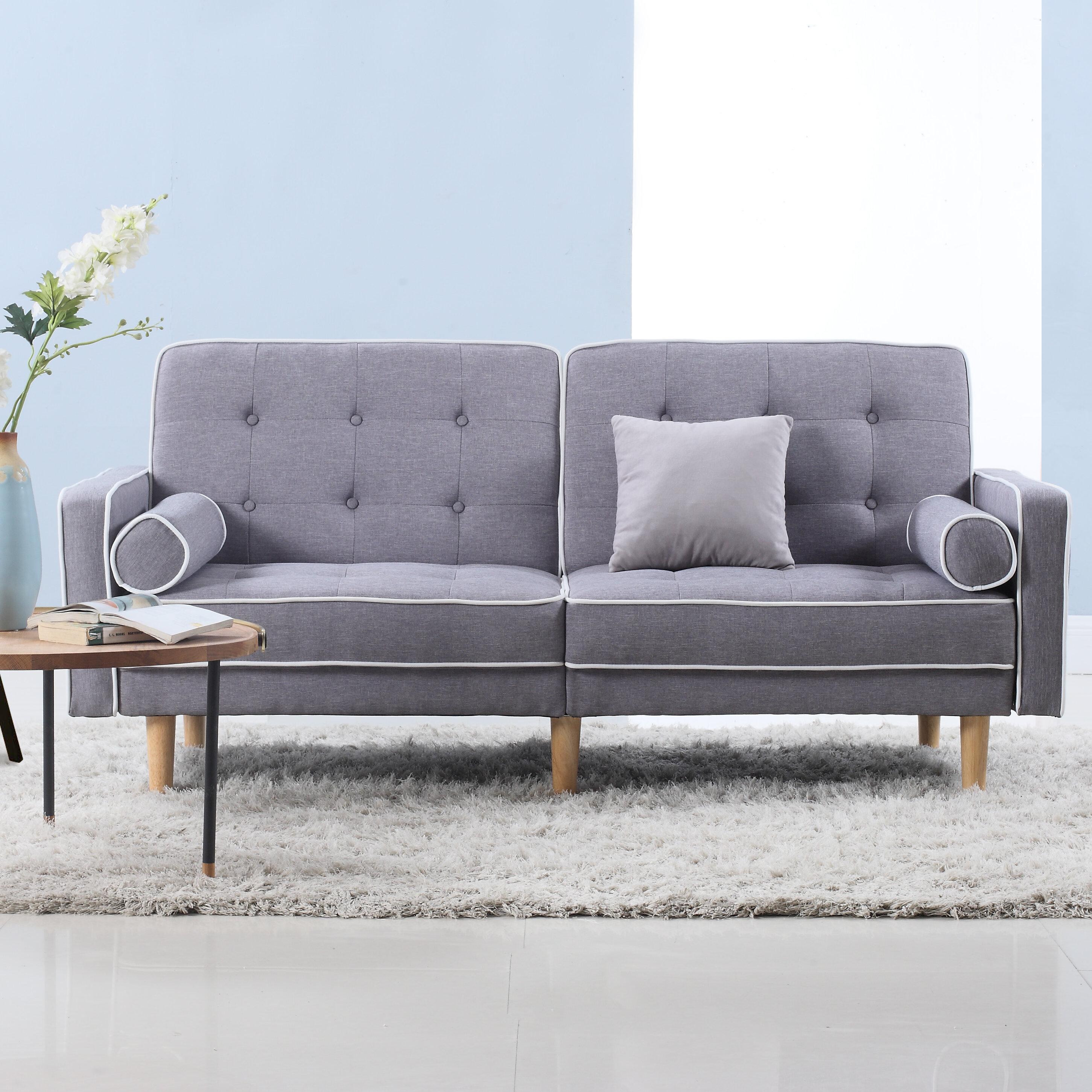 madison home usa mid century modern convertible sofa reviews wayfair