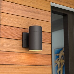 cylinder waterproof wall outdoor light sconce naturous modern lighting stainless dp ul porch