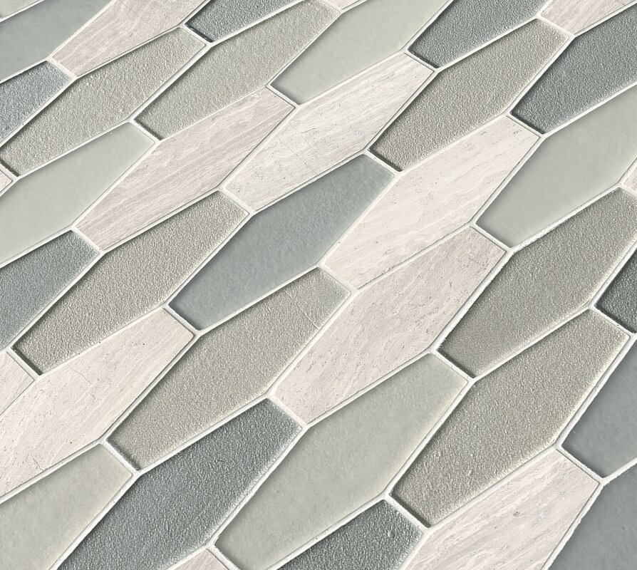 Msi Europa Elongated Hexagon Glass Stone Mosaic Tile In