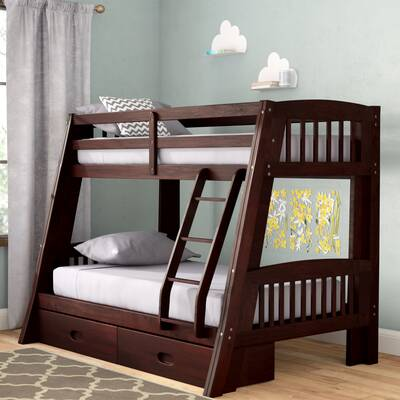 Viv Rae Rafael Twin Over Full Bunk Bed With Storage Reviews