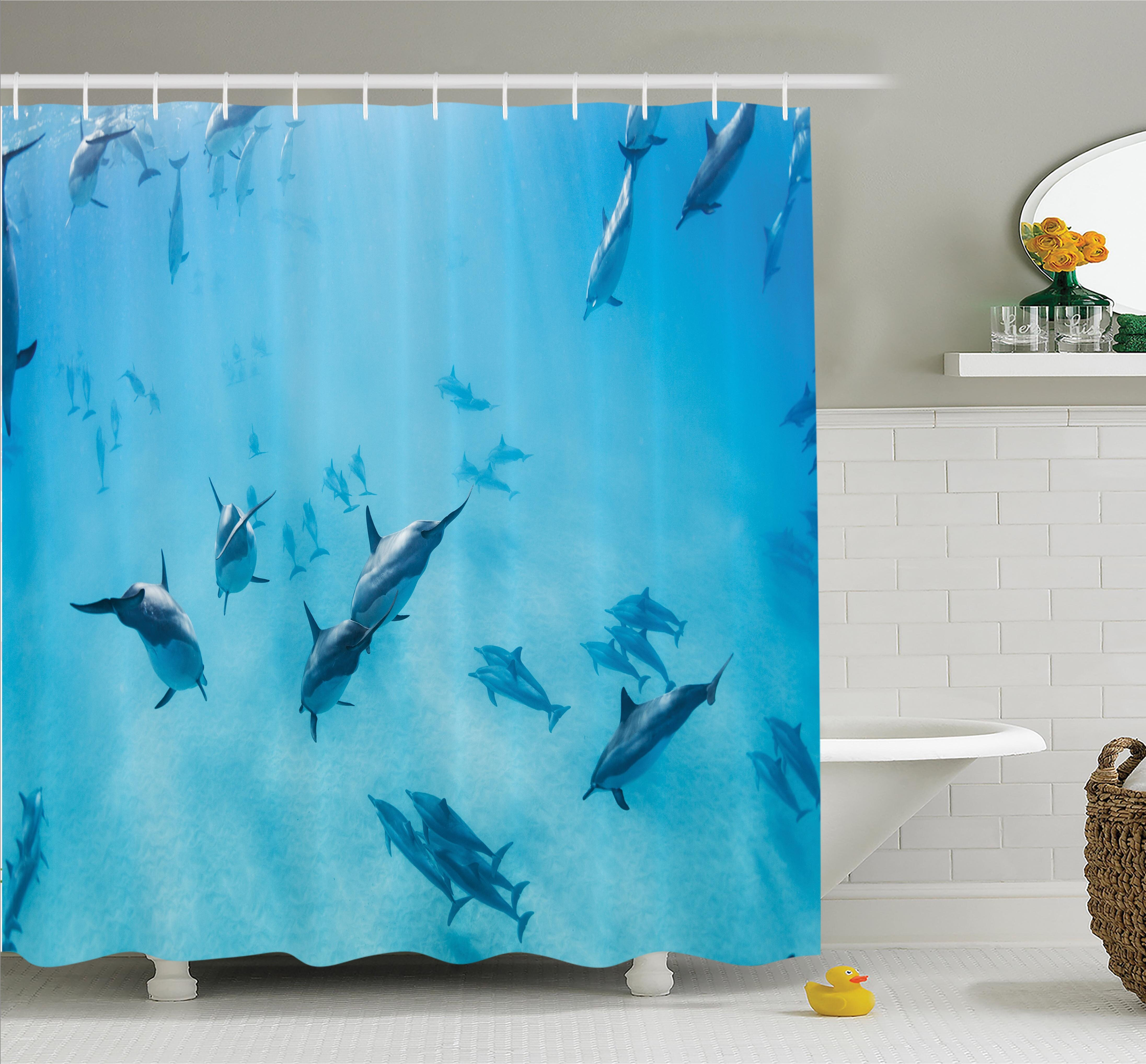 Ambesonne Tropical Dolphins Hawaii Ocean Shower Curtain Set | Wayfair