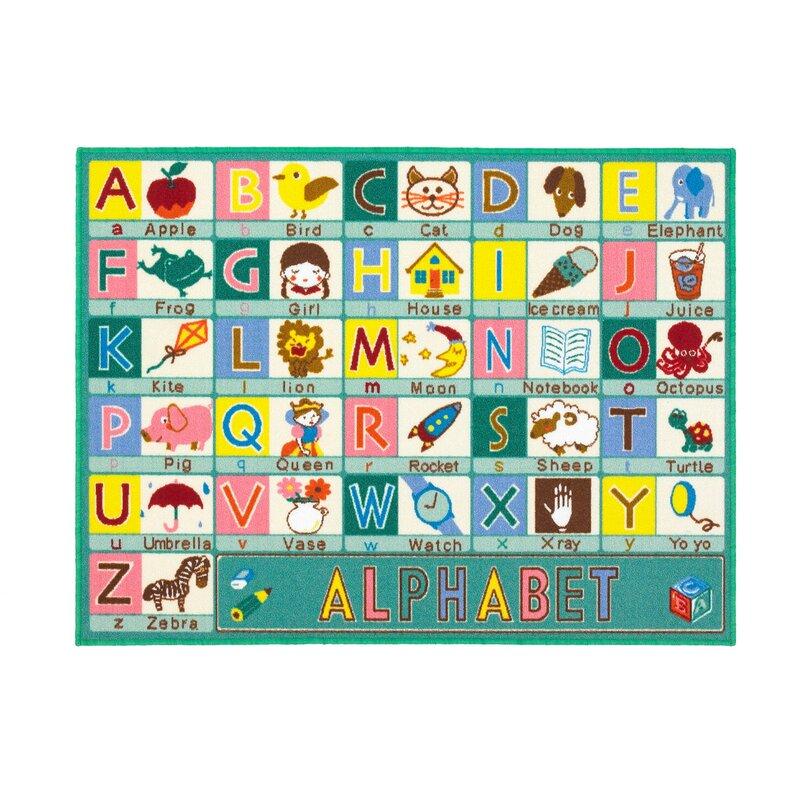 Zoomie Kids Allyssa ABC Sage Green Rug & Reviews
