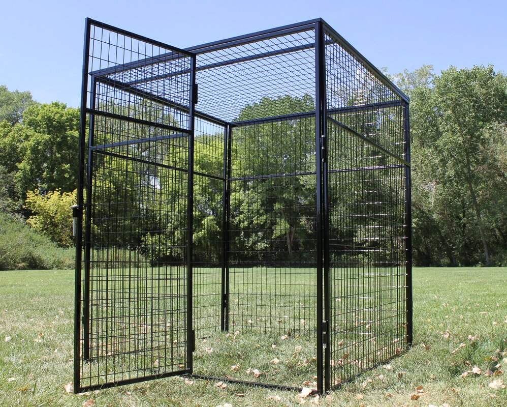 K9 Kennel Animal Enclosure With Welded Wire Top & Reviews