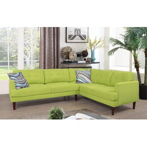 Sectional  sc 1 st  Wayfair : green microfiber sectional - Sectionals, Sofas & Couches