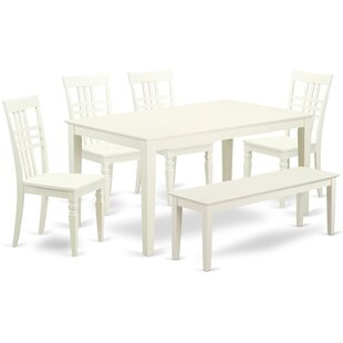 Smyrna 6 Solid Wood Breakfast Nook Dining Set
