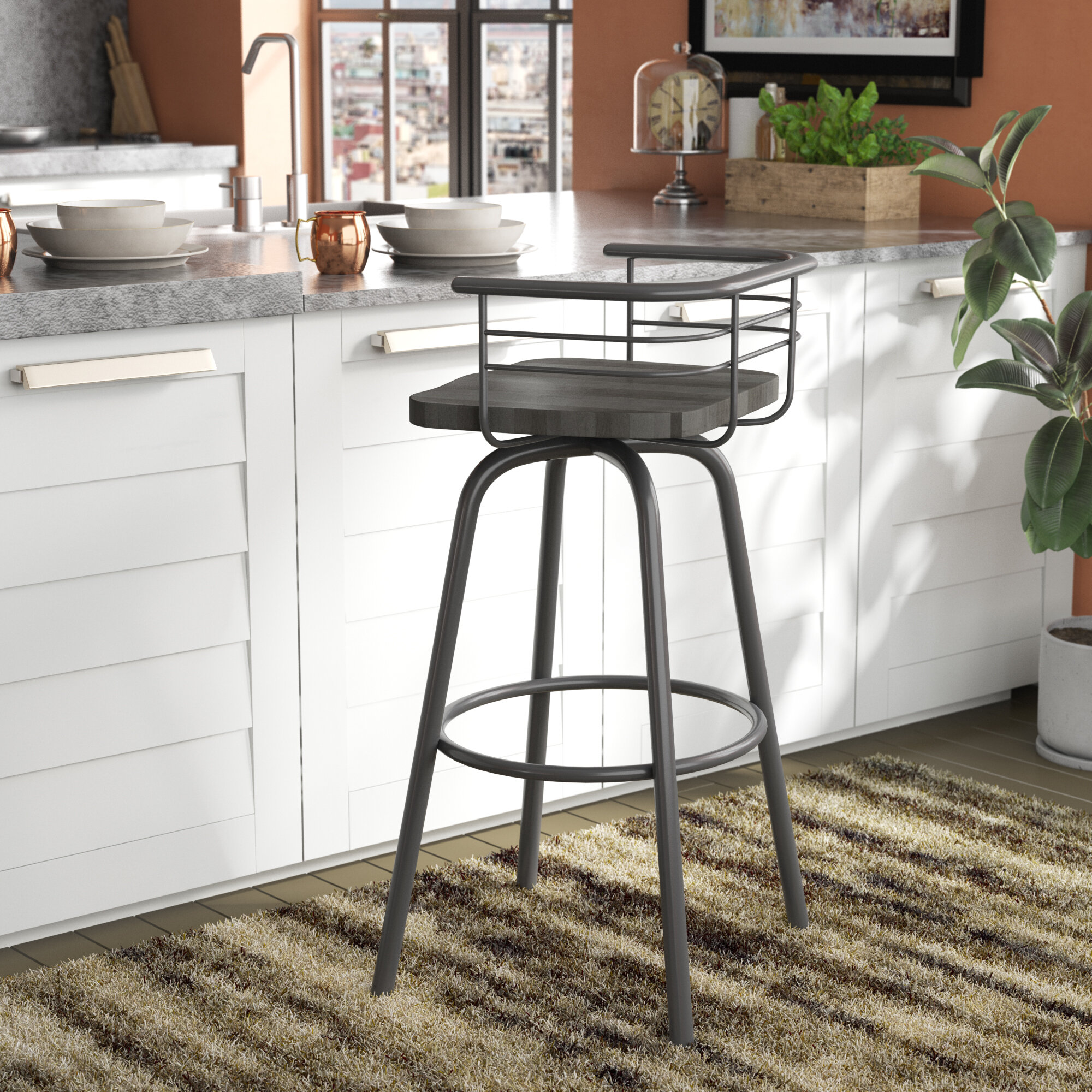 Trent austin design tungsten 26 swivel counter height stool reviews wayfair