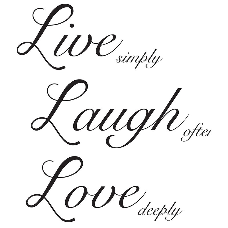 Live Laugh Love Wall Decal