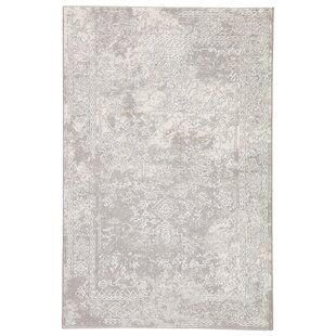Walkerville Medallion Light Gray/White Area Rug By Charlton Home
