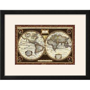 Gold foil world map wayfair decorative world map framed graphic art print gumiabroncs Images